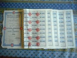 LOT DE 5 TITRES SOCIETE DE CREDIT D EXTREME ORIENT ACTION AU PORTEUR DE 100 FRANCS  SAIGON 1928 - Asia