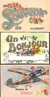 Stoumont - Lot 3 Cartes (Souvenir De Bonjour Avion Animée) - Stoumont