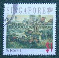 $1 Landschaftsgemälde, Landscape Painting The Bridge 1983 1992 Mi 650 Used Gebruikt Oblitere SINGAPORE SINGAPUR - Singapur (1959-...)