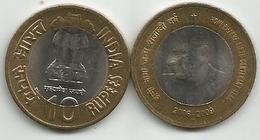 India 10 Rupiah 2009. Dr. Homi Bhabha KM#372 - Inde