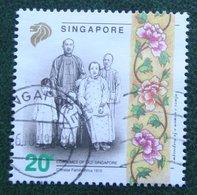 20 C CHINESE FAMILY, CIRCA 1910 1992 Mi 658 Used Gebruikt Oblitere SINGAPORE SINGAPUR - Singapur (1959-...)