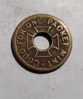 TOKEN GETTONE GOOD FOR ONE PACKET MINT - Monétaires/De Nécessité