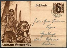 """German Empires,DR 1934 GS 1.Mai Mi.Nr.P251 Mit TST""""Wuppertal-Barmen """" 1 GS Used - Deutschland"""