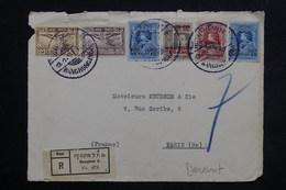 SIAM - Enveloppe ( Devant , Front Cover) En Recommandé De Bangkok Pour Paris , Affranchissement Plaisant - L 23116 - Siam