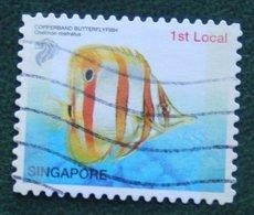 1st Local Tropical Marine Fish COPPERBAND BUTTERFLYFISH 2004 Mi 1351 Used Gebruikt Oblitere SINGAPORE SINGAPUR - Singapur (1959-...)
