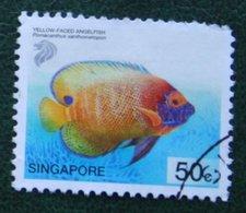 50 C Tropical Marine Yellow-faced Angelfish 2001 Mi 1081 Used Gebruikt Oblitere SINGAPORE SINGAPUR - Singapur (1959-...)