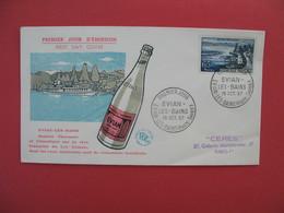 FDC 1957   Evian - Les - Bains   -  Cachet Evian - Les - Bains Haute Savoie    à Voir - FDC