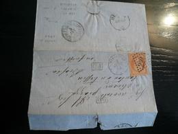 Lake Stamped- Marsiglia 1864 Per La Svizzera Con Annullo Lacuale ( SHIFFSBUREAU N°2 LUZERN) - Storia Postale