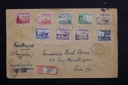 ALLEMAGNE - Enveloppe En Recommandé De Frankfurt Pour Paris En 1938, Affranchissement Plaisant - L 23117 - Briefe U. Dokumente