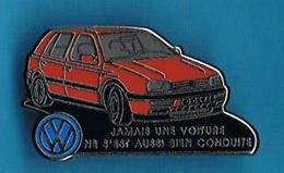 1 PIN'S //   ** VOLKSWAGEN / GOLF ** . (Decat Paris) - Volkswagen