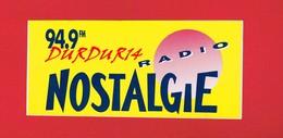 1 Autocollant  Radio NOSTALGIE - Autocollants