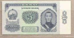 Mongolia - Banconota Non Circolata FdS Da 5 Tughrik P-44 - 1981 - Mongolie