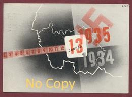 Postkarte - Saar Volksabstimmung Im Saargebiet 13 Januar.1935, , Sarre - Saarland / Plébiscite - Allemagne