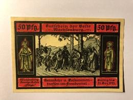 Allemagne Notgeld Wachsenburg 50 Pfennig - [ 3] 1918-1933 : République De Weimar