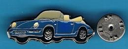 PIN'S //  ** PORSCHE 911 / CARRERA / CABRIOLET BLEU ** . (© Qualité Collections Série Limitée Paris) - Porsche