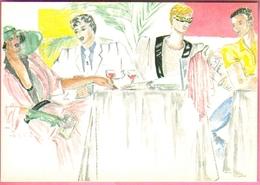 """Carte Postale """"Cart'Com"""" - Série Restaurant, Bar, Café - Le Petit Prince - Caviar & Company - Restaurants"""