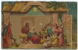 8023 Gloria In Excelsis Deo Embossed Gaufrage Tuck's Panorama Series - Jesus