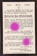 Petrus Jos. Hub WINDELSCHMIDT 1859 - 1903 VAALS - Décès