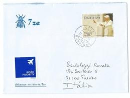 Portugal, Portogallo: Pope BENTO XVI , Papa Benedetto XVI; Postal Cover To ITALY. - 1910 - ... Repubblica
