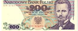 Poland  P.144c 200 Zlotych 1988  Unc - Polen