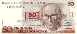 Brazil P.223   50/50 Cruzeiros 1990 Unc - Brésil