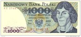 Poland P146c 1000 Zlotych 1982  Unc - Polonia