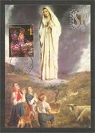 Portugal 1999 Postal Máximo Nossa Senhora De Fátima Encontro De Cultura Religion Religione Nuestra Señora Notre Dame - Christianisme