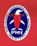 1 Autocollant PIEL Sport Ski Nautique Voile Plongée - Autocollants