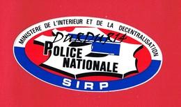 1 Autocollant Police Nationale SIRP - Autocollants