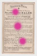 Philippe Antoine HALEN époux VERVIER 1882 échevin De La Commune De PEPINSTER / RARE - Décès