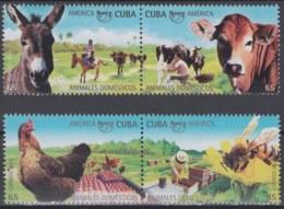 2018.134 CUBA MNH 2018. ANIMALES DOMESTICOS UPAEP, VACA, BURRO, GALLINA, ABEJA, CHIKEN, BEE, CAO. - Ongebruikt