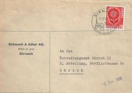 """Motiv Brief  """"Scheuch & Adler, Möbel En Gros, Sirnach""""           1965 - Storia Postale"""