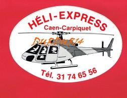 1 Autocollant Héli Express CAEN CARPIQUET Hélicoptère - Autocollants