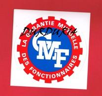 1 Autocollant GMF Mutuelle Des Fonctionnaires - Autocollants