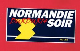 1 Autocollant NORMANDIE SOIR FR3 CAEN - Autocollants