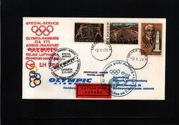Greece 1971 Olympic Games Muenchen Olympic Airways Olympia Flight  Athens - Frankfurt - Hamburg - Sommer 1972: München