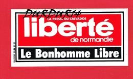 1 Autocollant Presse Du Calvados LE BONHOMME LIBRE - Autocollants