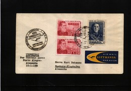 Brazil 1958 Lufthansa Inaugural Flight Porto Alegre - Germany - Brasilien