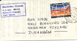Colombia Printed Matter Paper Sent To Denmark 1990 - Colombia