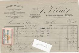 Petite Facture 1931 / VILAIR Droguerie Epinal 88 / Vignette Achetez Français / Avec Coq - Historical Documents