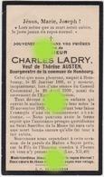 Charles Ladry Veuf Austen Bourgmestre De Hombourg Dcd Lors Du Conseil Communal 1939 - Décès