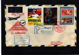 Paraguay 1971 Lufthansa Inaugural Flight Asuncion - Frankfurt - Paraguay