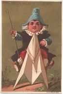 Chromo, Victorian Trade Card. A La Place De Clichy. Enfant Montant Un Cheval De Papier. Testu Massin 14-10/1 - Autres
