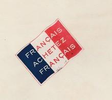 """Facture 1932 / MINAUX Manufacture Bonneterie / Paris / Vignette Drapeau Tricolore """" Achetez Français""""/ Patriotisme - Historical Documents"""