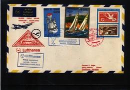 Paraguay 1971 Lufthansa Inaugural Flight Asuncion - Casablanca - Paraguay