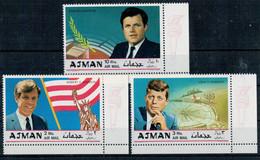 1969    KEMMEDY   BROTHERS    SET  X  3   MNH** - Ajman