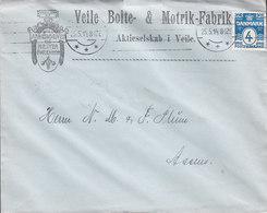 Denmark VEILE BOLTE- & MØTRIK-FABRIK, TMS Cds. 1914 Cover Brief ASSENS (Arr. Cds.) (2 Scans) - 1913-47 (Christian X)