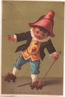 Chromo, Victorian Trade Card. Enfant Habits Anciens Sur Des Patins à Roulettes. Pattini A Rotelle. Testu Massin 14-10/2 - Autres