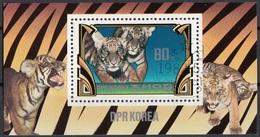 DPR KOREA 1982 Sc. 2187 Cuccioli Tigre Tiger Sheets Perf. CTO Corea - Corea Del Nord
