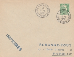 OBLIT. TEMPORAIRE RALLYE AÉRIEN CHAMPAGNE - ÉPERNAY 5/6/49 - Postmark Collection (Covers)